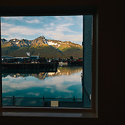 The view outside of the Holiday Inn Express in Seward, Alaska.