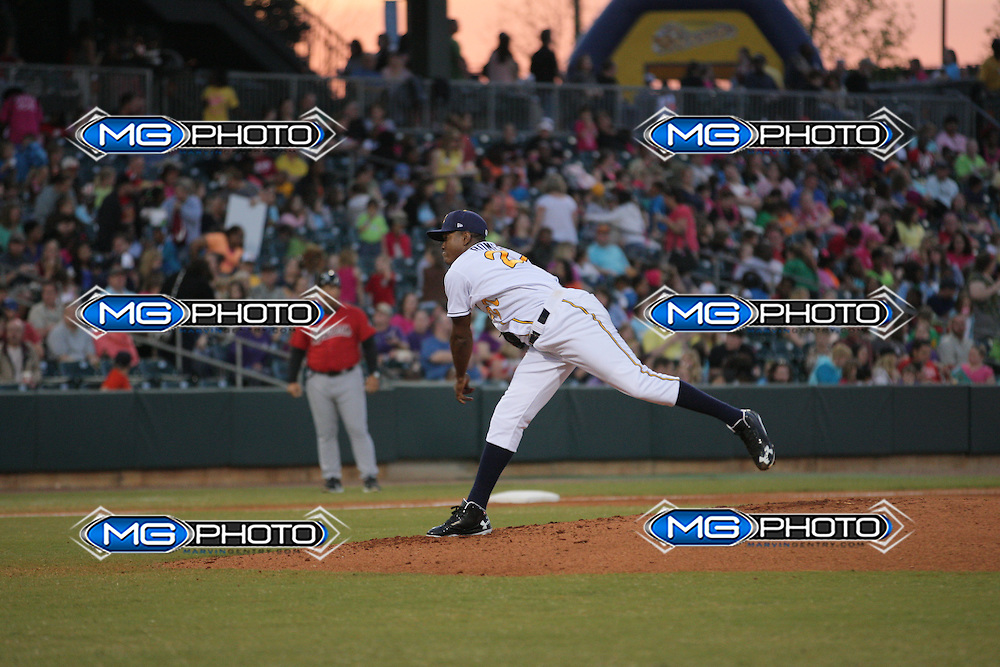 April 6,2013 Birmingham Barons vs Montgomery Biscuits. Mandatory Credit Marvin Gentry