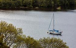 THEMENBILD - ein Segelboot vor Anker in einer Bucht von Loch Ness, Drumnadrochit, Schottland, aufgenommen am 05.06.2015 // A sailboat moored in a bay of Loch Ness, Drumnadrochit, Scotland on 2015/06/05. EXPA Pictures © 2015, PhotoCredit: EXPA/ JFK