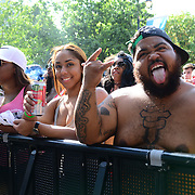 Music fans attend the 2016 Budweiser Made in America Festival Day 1 at Benjamin Franklin Parkway on September 3, 2016 in Philadelphia, Pennsylvania. (Photo by Lisa Lake/Getty Images for Anheuser-Busch)