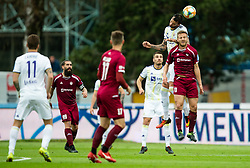 Amir Dervišević of Maribor vs Aleš Mertelj of Triglav during Football match between NK Triglav and NK Maribor in 25th Round of Prva liga Telekom Slovenije 2018/19, on April 6, 2019, in Sports centre Kranj, Slovenia. Photo by Vid Ponikvar / Sportida