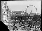 Exposition Universelle de Paris 1889,  at the Jardins Trocadero under construction