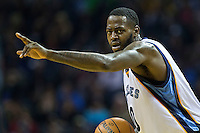 MEMPHIS, TN - DECEMBER 10:  JaMychal Green #0 of the Memphis Grizzlies dribbles down the court against the Golden State Warriors at the FedExForum on December 10, 2016 in Memphis, Tennessee.  The Grizzlies defeated the Warriors 110-89.  NOTE TO USER: User expressly acknowledges and agrees that, by downloading and or using this photograph, User is consenting to the terms and conditions of the Getty Images License Agreement.  (Photo by Wesley Hitt/Getty Images) *** Local Caption *** JaMychal Green