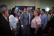 Pablo Perez, candidato a las elecciones primarias de la oposicion durante su discurso de Plan de Gobierno realizado hoy, jueves 19 de enero de 2012, en el Hotel Renaissance de Caracas. (Foto/Ivan Gonzalez)
