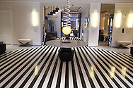 New York. the mark hotel Lobby entrance  designed by jaques Grange, New York - United states / entree de  l hotel mark  New York - Etats unis