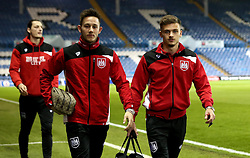 Josh Brownhill and Jamie Paterson of Bristol City arrive at Elland Road for the Sky Bet Championship fixture with Leeds United - Mandatory by-line: Robbie Stephenson/JMP - 14/02/2017 - FOOTBALL - Elland Road - Leeds, England - Leeds United v Bristol City - Sky Bet Championship