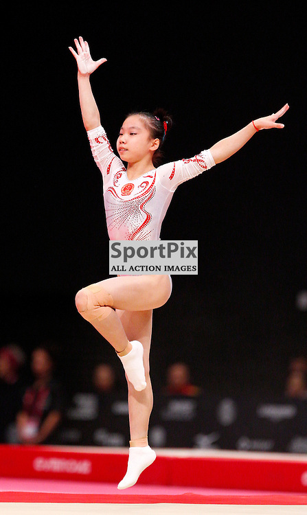 2015 Artistic Gymnastics World Championships being held in Glasgow from 23rd October to 1st November 2015...Yan Wang (Peoples Republic of China) competing in the Floor Exercise competition...(c) STEPHEN LAWSON | SportPix.org.uk