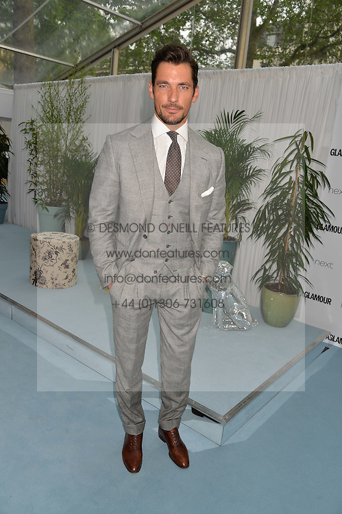 DAVID GANDY at the Glamour Magazine Women of the Year Awards in association with Next held in the Berkeley Square Gardens, London on 7th June 2016.