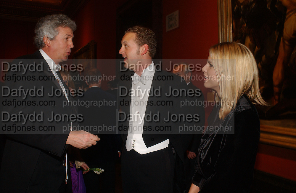 Henry Wyndham, Lord Edward Spencer-Churchill and Petrina Khashoggi. Belle Epoche gala fundraising dinner. National Gallery. 16 March 2006. ONE TIME USE ONLY - DO NOT ARCHIVE  © Copyright Photograph by Dafydd Jones 66 Stockwell Park Rd. London SW9 0DA Tel 020 7733 0108 www.dafjones.com