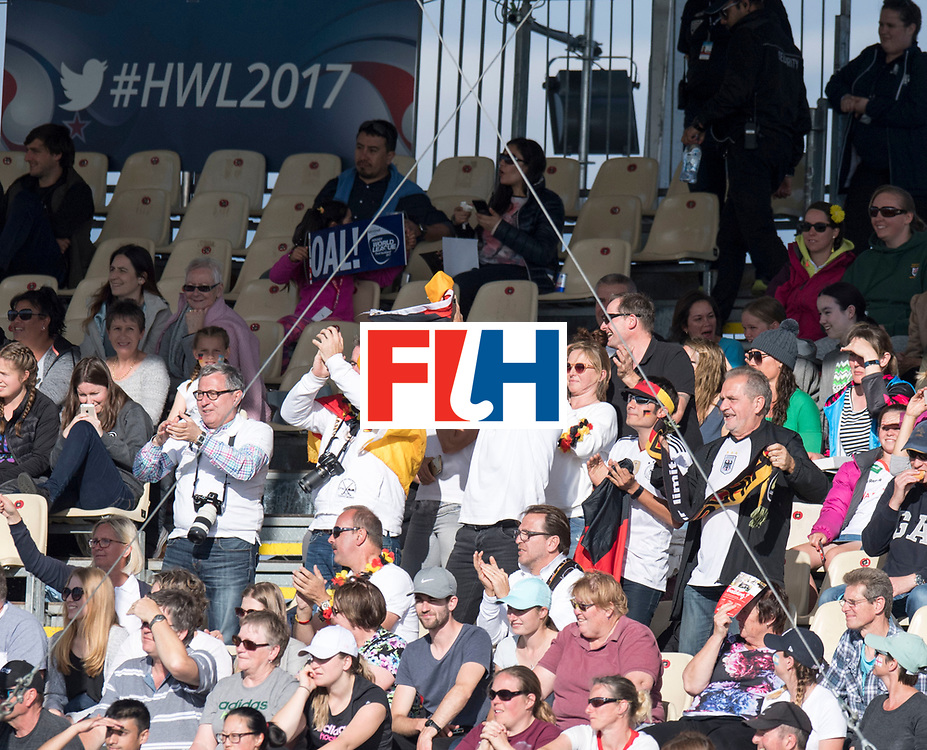 AUCKLAND - Sentinel Hockey World League final women<br /> Match id 10297<br /> 07 Germany v China<br /> Foto: German fans.<br /> WORLDSPORTPICS COPYRIGHT FRANK UIJLENBROEK