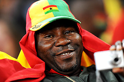 A Ghanian fan during the 2010 FIFA World Cup South Africa Group D match between Ghana and Germany at Soccer City Stadium on June 23, 2010 in Johannesburg, South Africa.