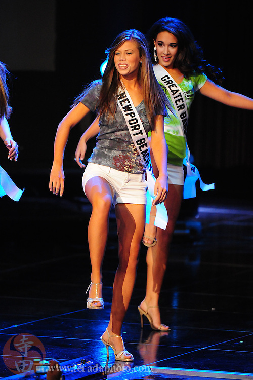 "November 22, 2009; Rancho Mirage, CA, USA; Miss Newport Beach Teen USA Katie Westerhout during the Miss California Teen USA 2010 Pageant at ""The Show"" at the Agua Caliente Resort & Spa. Mandatory Credit: Kyle Terada-Terada Photo"