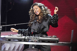August 6, 2017 - New Jersey, U.S - Host of the 2017 Black Girls Rock awards show TARAJI P. HENSON, playing DJ.  Black Girls Rock 2017 was held at the New Jersey Performing Arts Center in Newark New Jersey. (Credit Image: © Ricky Fitchett via ZUMA Wire)