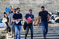 Mickael Robin / Nikola Karabatic - 17.06.2015 - Proces des paris sportifs du Handball - Montpellier<br /> Photo : Alexandre Dimou / Icon Sport