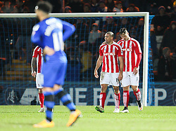 Stoke City's Jonathan Walters celebrates after scoring Stoke's fourth goal - Photo mandatory by-line: Matt McNulty/JMP - Mobile: 07966 386802 - 26/01/2015 - SPORT - Football - Rochdale - Spotland Stadium - Rochdale v Stoke City - FA Cup Fourth Round