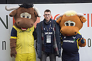 Oxford United's Mascots during the EFL Sky Bet League 1 match between Oxford United and Walsall at the Kassam Stadium, Oxford, England on 31 December 2016. Photo by Dennis Goodwin.