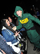 14.MARCH.2011. LONDON<br /> <br /> JUSTIN BIEBER ARRIVING BACK AT HIS LONDON HOTEL WITH HIS TRACKSUIT BOTTOMS DOWN SO YOU COULD SEE HIS BOXER SHORTS AFTER PERFORMING AT THE O2 ARENA IN GREENWICH AS PART OF HIS WORLD TOUR.<br /> <br /> BYLINE: EDBIMAGEARCHIVE.COM<br /> <br /> *THIS IMAGE IS STRICTLY FOR UK NEWSPAPERS AND MAGAZINES ONLY*<br /> *FOR WORLD WIDE SALES AND WEB USE PLEASE CONTACT EDBIMAGEARCHIVE - 0208 954 5968*