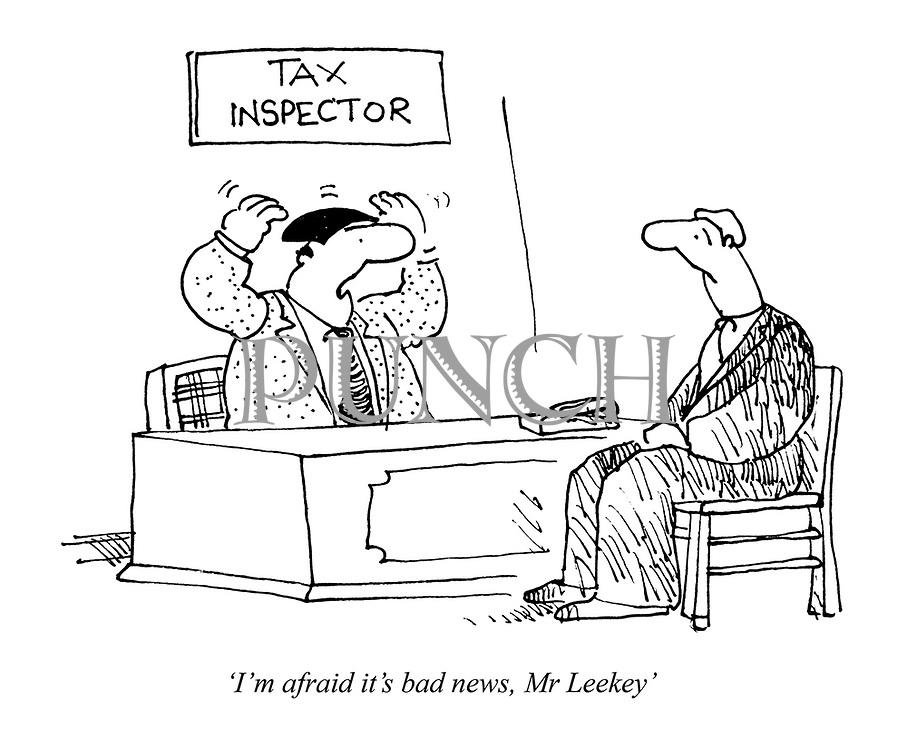 'I'm afraid it's bad news, Mr Leekey'
