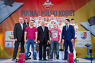 (C) Marzena Karpinska from Poland (48kg category) with the Cup while victory ceremony during Women's Weightlifting Polish Cup 2014 in Jozefow near Warsaw on March 30, 2014.<br /> Marzena Karpinska won the first Women's Weightlifting Polish Cup.<br /> <br /> Poland, Jozefow, March 30, 2014<br /> <br /> Picture also available in RAW (NEF) or TIFF format on special request.<br /> <br /> For editorial use only. Any commercial or promotional use requires permission.<br /> <br /> Mandatory credit:<br /> Photo by © Adam Nurkiewicz / Mediasport