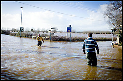 Burrowbridge, Somerset, United Kingdom.Sunday, 9th February 2014. Main roads flooded on  The Somerset Levels. The levels have been flooded since the start of 2014, with people being forced to leave their homes. Picture by Andrew Parsons / i-Images