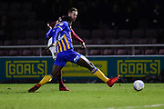 Northampton Town striker Kevin Van Veen (10) takes a shot at goal  during the EFL Sky Bet League 1 match between Northampton Town and Shrewsbury Town at Sixfields Stadium, Northampton, England on 20 March 2018. Picture by Dennis Goodwin.