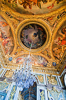 Palace of Versailles. Various panels and friezes on ceiling.