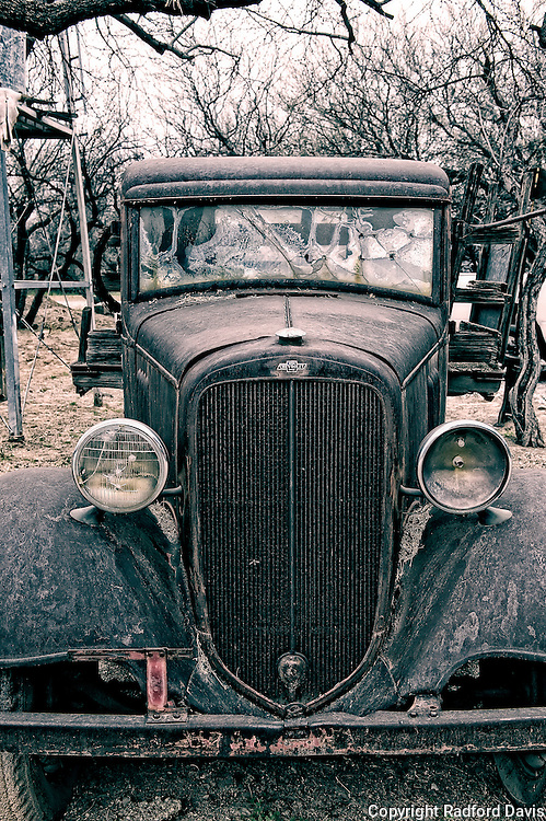 Old west truck with bullet holes, Tucson, Arizona