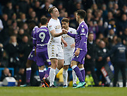 Leeds United defender Matthew Pennington and Bolton Wanderers forward Zach Clough shake hands at full time during the EFL Sky Bet Championship match between Leeds United and Bolton Wanderers at Elland Road, Leeds, England on 30 March 2018. Picture by Paul Thompson.