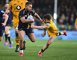 Ollie Lawrence of Worcester Warriors - Mandatory by-line: Alex James/JMP - 25/01/2020 - RUGBY - Sixways Stadium - Worcester, England - Worcester Warriors v Wasps - Gallagher Premiership Rugby