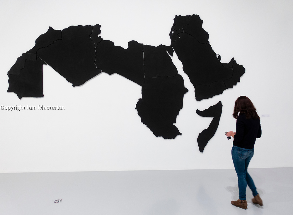 The Arab World by Marwan Rechmaoui at Mathaf: Arab Museum of Modern Art, Doha , Qatar.