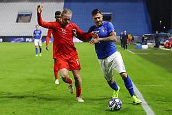 GIUSEPPE PEZZELLA (ITALY) VS TOM DAVIES (ENGLAND)     <br /> Football friendly match Italy vs England u21<br /> Ferrara Italy November 15, 2018<br /> Photo by Filippo Rubin