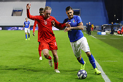 GIUSEPPE PEZZELLA (ITALY) VS TOM DAVIES (ENGLAND)     <br /> Football friendly match Italy vs England u21<br /> Ferrara Italy November 15, 2018<br /> Photo by Filippo Rubin
