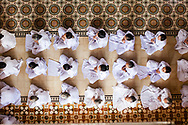 Worshipers in Cao Dai Temple, Tay Ninh Province, Vietnam, Southeast Asia