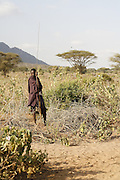 TANZANIA. Longido Mountain Area..August 3rd 2009..A Maasai man.