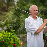 MAY 5, 2017--MARCO ISLAND--FLORIDA<br /> Thomas Johnston, 61,  supported the Republican Party's action to repeal the Affordable Care Act. Mr. Johnston, who manages an 18 hole miniature golf course, watched the vote live on television yesterday. <br /> (Photo by Angel Valentin)