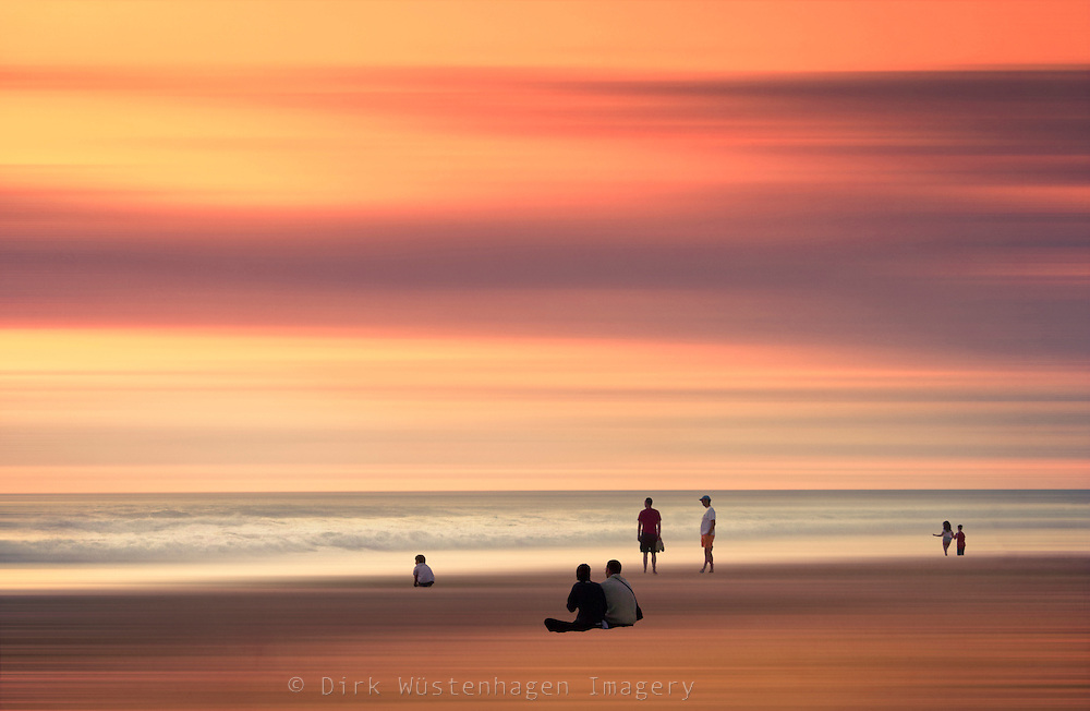 Abstract seascape with people enjoying the sunset.<br /> <br /> Prints &amp; moer: http://society6.com/DirkWuestenhagenImagery/people--the-Ocean_Print