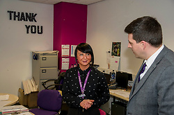 Pictured: Jamie Hepburn meets Tracy Connerton from Remploy<br /> <br /> Today, Minister for employability and training, Jamie Hepburn MSP visited Remploy in Edinburgh where he announced new employment services funding. Mr Hepburn gave details on cash which will develop new ways of supporting the Scottish Government's new devolved employment services. <br /> <br /> Ger Harley | EEm 21 December 2016