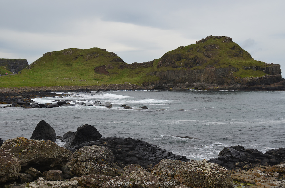 The mounds on the approach to the Giant's Causeway, County Antrim, Northern Ireland.