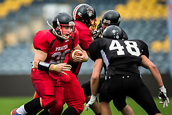East Kilbride Pirates running back - Mandatory by-line: Jason Brown/JMP - 27/08/2016 - AMERICAN FOOTBALL - Sixways Stadium - Worcester, England - Kent Exiles v East Kilbride Pirates - BAFA Britbowl Finals Day
