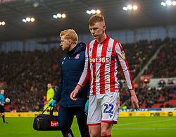 STOKE-ON-TRENT, ENGLAND - Saturday, January 25, 2020: Stoke City's Sam Clucas during the Football League Championship match between Stoke City FC and Swansea City FC at the Britannia Stadium. (Pic by David Rawcliffe/Propaganda)
