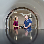 29.05. 2017.                                             <br /> IRELAND'S largest and most advanced Emergency Department has opened this Monday at University Hospital Limerick.<br /> <br /> Pictured at the new CT Scanner in the Emergency Department were, Nuala Lynch, Radiation Safety Officer (RSO) and Dr. Fergal Cummins, Consultant in Emergency Medicine.<br /> <br /> <br /> <br /> A €24 million project (development and equipment costs), the ED spans 3,850 square metres of floor space, over three times the size of the old department. In 2016, UHL had the busiest ED in the country, with over 64,000 attendances. Picture: Alan Place