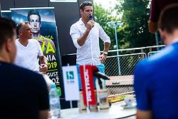 Gregor Krusic during ATP Press conference with Aljaz Bedene, on July 25th, 2019, in Ljubljansko kopalisce Kolezija, Ljubljana, Slovenia. Photo by Grega Valancic / Sportida