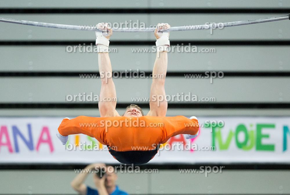 Epke Zonderland of Netherlands competes in the Horizontal Bar during Qualifications of Artistic Gymnastics World Challenge Cup Ljubljana, on April 3, 2015 in Arena Stozice, Ljubljana, Slovenia. Photo by Vid Ponikvar / Sportida