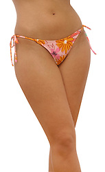 waist and legs of young woman in bikini