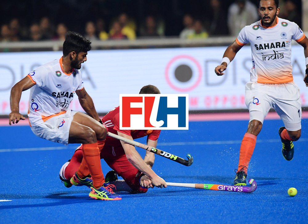 Odisha Men's Hockey World League Final Bhubaneswar 2017<br /> Match id:05<br /> 06 IND v ENG (Pool B)<br /> Foto: Sam Ward (Eng) scores 2-2<br /> WORLDSPORTPICS COPYRIGHT FRANK UIJLENBROEK