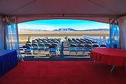 The EAA guest tent overlooking the ramp at Reno Stead Airport.  Created during the 2012 Reno Air Races.