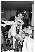 Josephine Valentine, Piers Gaveston Ball, Park Lane Hotel 13.05.83© Copyright Photograph by Dafydd Jones 66 Stockwell Park Rd. London SW9 0DA Tel 020 7733 0108 www.dafjones.com