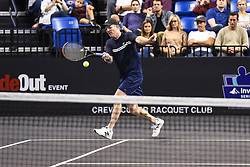October 4, 2018 - St. Louis, Missouri, U.S - JIM COURIER with the forehand return during the Invest Series True Champions Classic on Thursday, October 4, 2018, held at The Chaifetz Arena in St. Louis, MO (Photo credit Richard Ulreich / ZUMA Press) (Credit Image: © Richard Ulreich/ZUMA Wire)