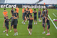 Real Madrid players pictured during Real Madrid training at Estádio da Luz, Lisbon<br /> Picture by Ian Wadkins/Focus Images Ltd +44 7877 568959<br /> 23/05/2014