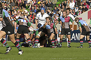 EDF Energy Cup, Quins new signing Andy GOMARSALL, move the ball out from the back of the scrum during the  first half  of the NEC Harlequins vs Sale Sharks, match, at the Stoop Stadium, Twickenham. 07/10/2006 . [Photo, Peter Spurrier/Intersport-images]..